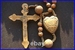 15 DECADE ANTIQUE 1800's LOURDES BEAUTIFUL RARE 15 DECADE FRANCE LARGE ROSARY