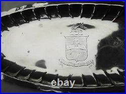 1740 beautiful rare Georgian George 11 Irish spoon tray, period Armorial crest