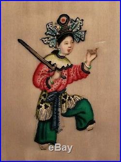 (40) Original C. 1900s BEAUTIFUL Chinese opera kabuki Miniature Paintings RARE