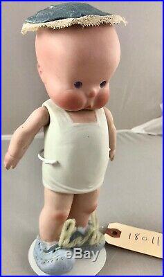 9 Antique German All Bisque Kestner Heebee Doll! Rare! Beautiful! 18011