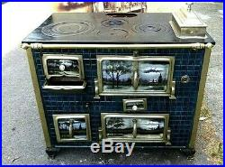 ANTIQUE FRENCH ENAMEL Range Stove Cooker VERY RARE & BEAUTIFUL FOR A NURSES FUND