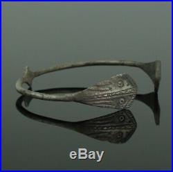A Beautiful Rare Ancient Celtic Silver Bracelet Circa 50bc