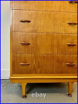 A Rare & Beautiful 1960s Walnut Chest Of Drawers. By M&T London. Beautiful