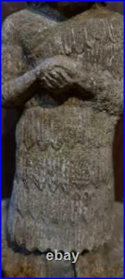 An Extremely Rare Beautiful Mesapotamian Sumerian Stone Idol Of A Worshipper. A+