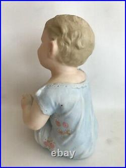 Antique Beautiful German Bisque Piano Baby Figurine Heubach Rudolstadt VERY RARE