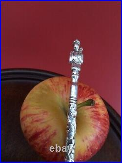 Antique Chinese c1900 Silver Long Dip Pen Beautiful Very Rare Spare Nibs Novelty
