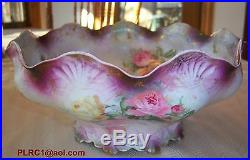 Antique Porcelain Beautiful Large Bowl RS Prussia RARE Turn of Century MINT