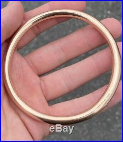 Antique, Solid 9k Rose Gold Large Slave Bangle Rare Beauty not scrap 12.3g