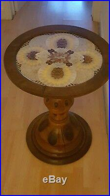 Antique VERY RARE Beautiful 20th Century Brazilian Palm Wood Butterfly Table