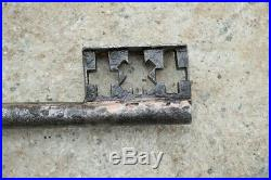 Antique beautiful old baroque key, hand-forged, rare, around 1750