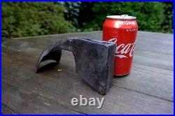 Antique carving carpenter adze, logo, very rare, beautiful tool, collector