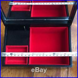Antique lacquerware jewelry box Japan retro popular rare beautiful EMS F/S