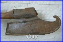 Antique old great beautiful ax, rare design, axe, hatchet, handforged, 18Cen