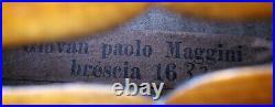BEAUTIFUL OLD FRENCH MAGGINI VIOLIN see video RARE ANTIQUE 318