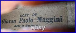 BEAUTIFUL OLD GERMAN 3/4 MAGGINI VIOLIN video RARE ANTIQUE 248