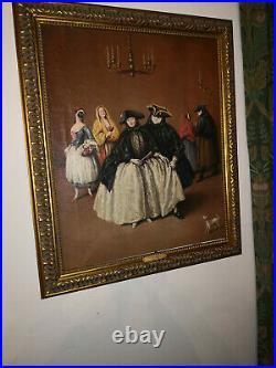 BEAUTIFUL RARE ITALIAN Oil on canvas, Venice - FOLLOWER OF Pietro Longhi