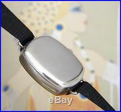 BEAUTIFUL & RARE Ladies' Antique LeCoultre Niello Wire Lug Watch SERVICED
