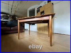 BEAUTIFUL Vintage mid-century TEAK wood dining table extendable tapered RARE
