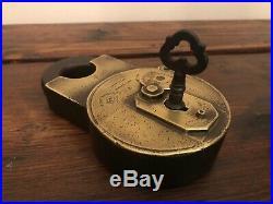 Beautiful 19th Century Edwin Cotterill A20 Padlock with Key Rare