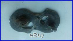 Beautiful And Rare Ancient Viking Silver Gilt Fibula (brooch) With Dragon Heads