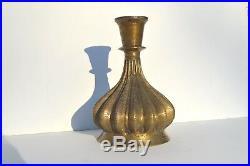 Beautiful Antique 17/18 Century Mughal Solid Bronze Huqqa Hookah Base Rare