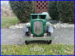 Beautiful Antique 1920's Sturditoy Pressed Steel Studebaker Stake Truck Rare