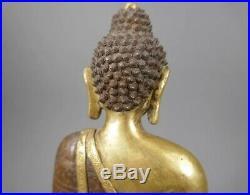 Beautiful Antique Chinese /Tibetan Carved Gilt Bronze Buddha Rare