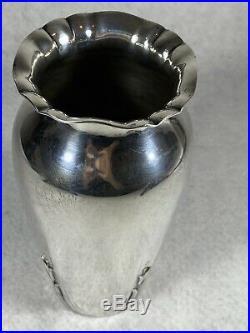 Beautiful Art Nouveau Lebkuecher Grogan & Co Heavy Sterling Vase RARE