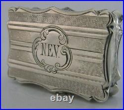 Beautiful English Nathaniel Mills Sterling Silver Vinaigrette Antique 1849 Rare