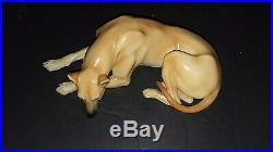 Beautiful Nymphenburg Large Great Dane Dog Figurine Rare Fawn Color