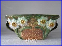 Beautiful Original Rare Antique Roseville Art Pottery Jonquil Bowl