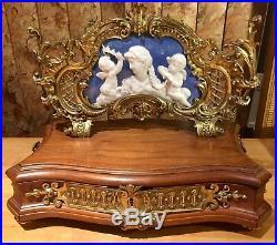 Beautiful Rare 19th C. Kpm Seger Porzellan Walnut Pate Sur Pate Jewelry Box