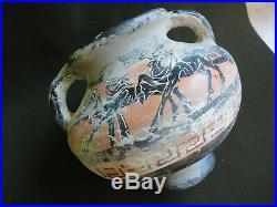 Beautiful Rare Ancient Greek Thracian Terracotta Drinking Amphora Jug Pitcher