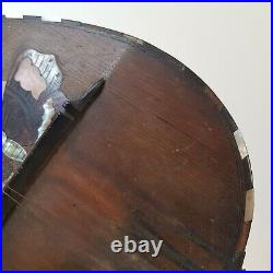 Beautiful Rare Antique c1900 Italian Bowl Back Mandolin, Luigi Poppi of Palermo