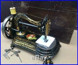 Beautiful Rare BradBury Duke of Wellington Antique sewing machine