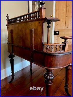 Beautiful Rare French Desk Burr Walnut c1880