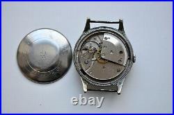 Beautiful Rare German Junghans Military Vintage Wristwatch 1950's