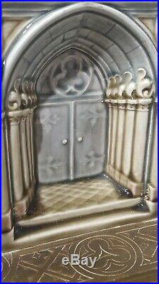 Beautiful Rare Lenzkirch porcelain and bronze mantle Clock Garniture Set