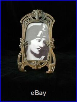 Beautiful Rare Original Art Nouveau, Jugendstil, Metal Photo Frame