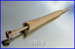 Beautiful Rare Victorian Clenching Fist Stanhope Ladies Parasol Needle Case