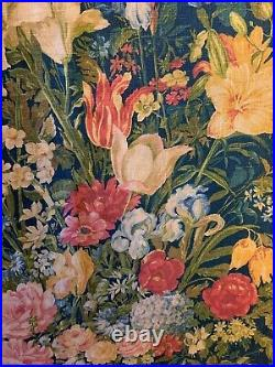 Beautiful rare 1930s English French or French Printed Linen Floral Fabric (3238)
