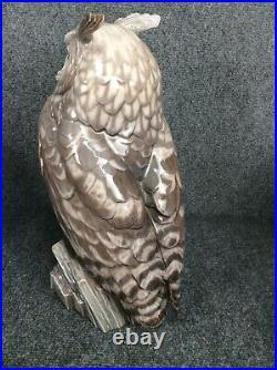 Beautiful rare Dahl Jensen Copenhagen Denmark owl figurine