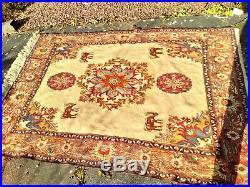 Beautiful rare design Handmade SHAHSAVAN rug kilim Size 252 X 210 Cm