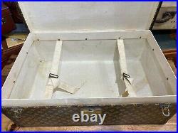 Beautiful unusual rare vintage louis vuitton aero trunk malle baule