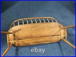 ERCOL Rare and Beautiful Antique Genuine Wood Love Seat