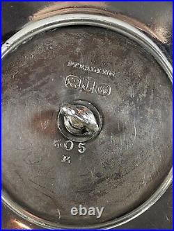 Large Beautiful RARE Gorham Sterling Silver Centerpiece Fruit Bowl withCherub 1872