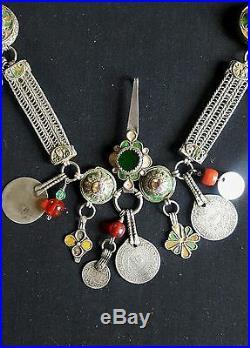 MOROCCO Beautiful and rare Pair of FIBULES for teen Berber girl of Anti-Atlas