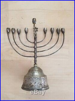 Menorah Antique Rare German Menorah Silver Plated Judaica Jewish Star Beautiful