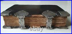 Old & rare prayerbook 1766 with beautiful silver clasps and floral decorations