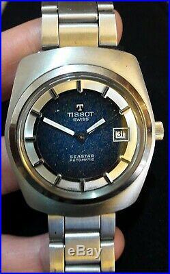 Original Vintage Tissot Swiss Seastar Automatic, Rare Beautiful Dial, 1970'ies